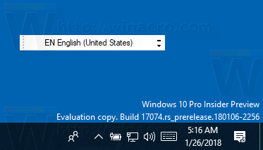 Windows 10 Floating Language Bar