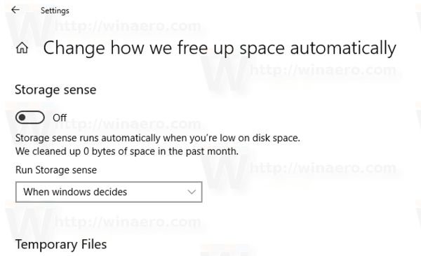 Windows 10 Run Storage Sense Automatically Pic1