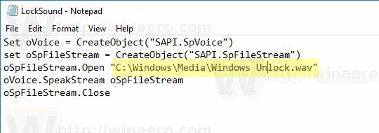 Windows 10 Play Lock Sound Script