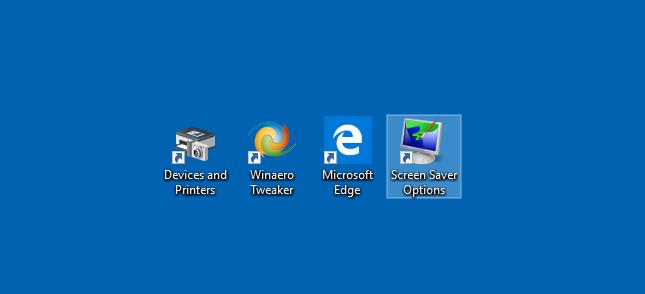 Windows 10 Screen Saver Shortcut Created