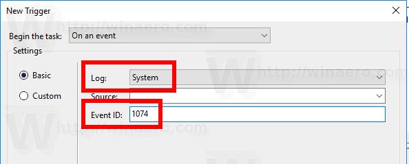 Windows 10 Shutdown Event Trigger