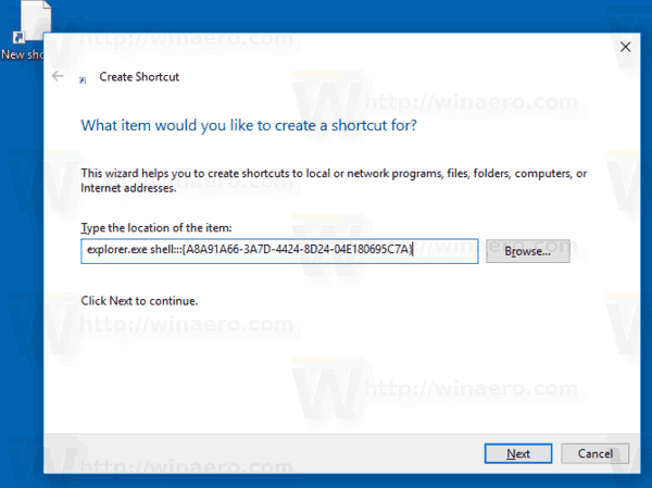 Create Devices and Printers Shortcut in Windows 10
