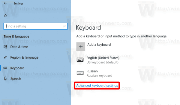 Enable Per Window Keyboard Layout In Windows 10 Img1