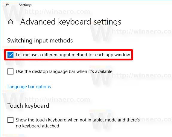 Enable Per Window Keyboard Layout In Windows 10 Img2