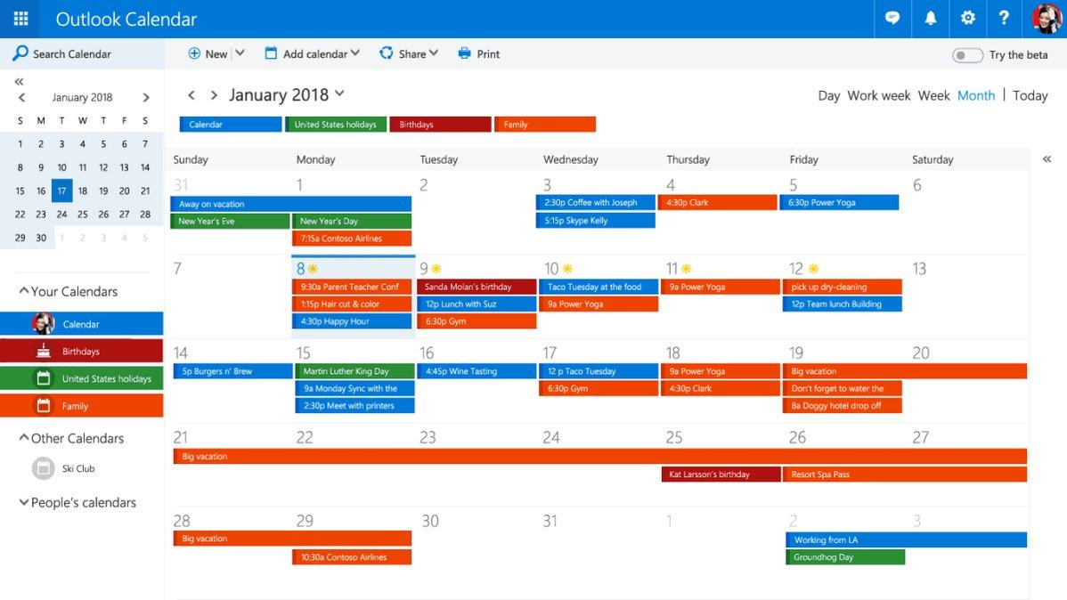 Outlook Com Beta Calendar