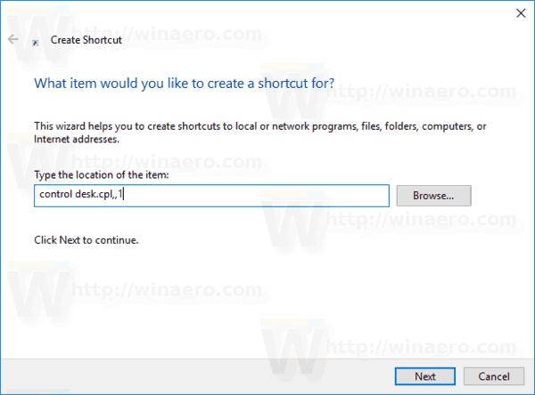 how to create a screensaver desktop shortcut windows 10