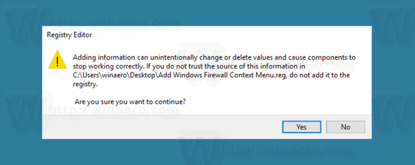Add Windows Firewall Context Menu