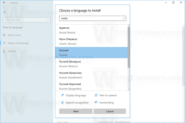 Add or Remove Keyboard Layout in Windows 10