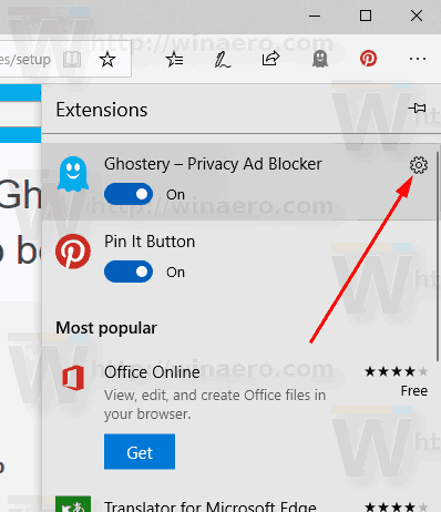 Edge Extension Options Icon