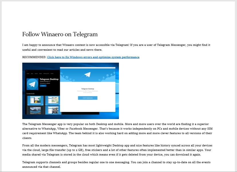 Microsoft Edge Clutter Free Print
