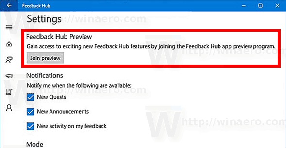 Windows 10 Join App Preview Program