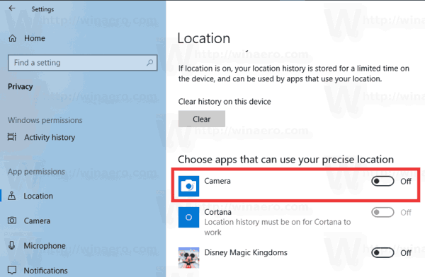 Windows 10 Location Access For Apps