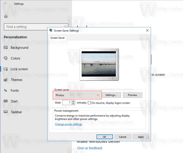 Windows 10 Select Photos Saver
