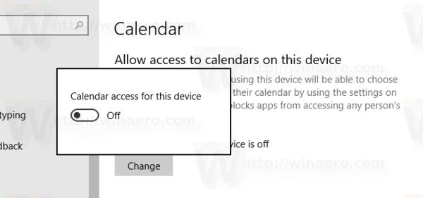 Windows 10 Calendar Access Disabled