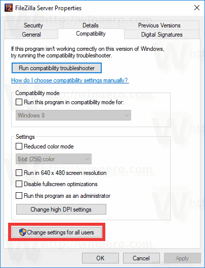 how to change uac in windows 10 for all user