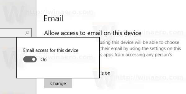 Windows 10 Disable Access To Email For The Os