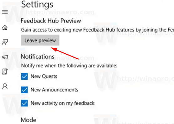 Windows 10 Leave App Preview Program
