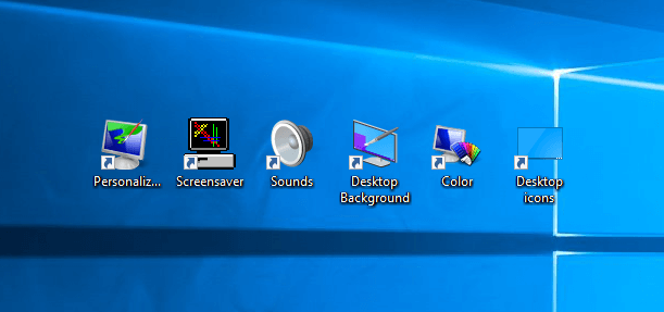 Classic Personalization Icons In Windows 10