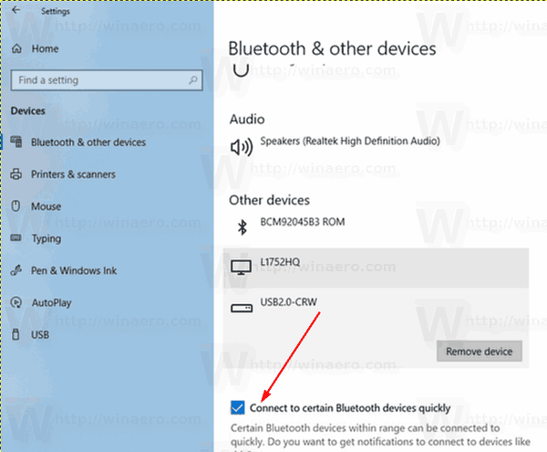 Disable Streamlined Pairing to Bluetooth in Windows 10