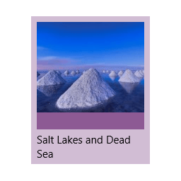 Salt Lakes and Dead Sea theme for Windows 10, 8 and 7
