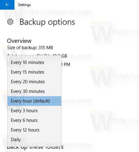 Change How Often To Save File History In Windows 10