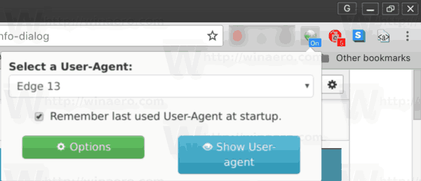 Chrome Change User Agent