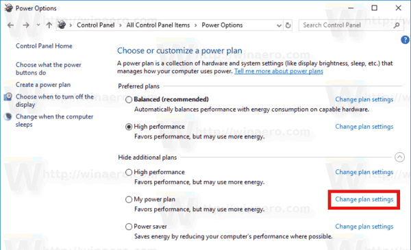 Delete Power Plan Windows 10