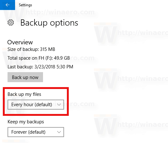 File History Backup My Files