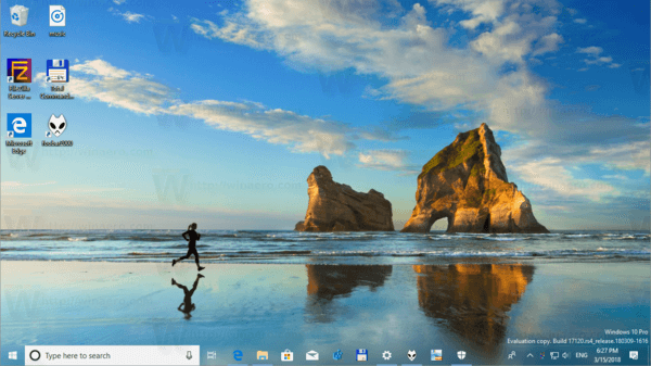 Make Taskbar Totally Transparent With Blur In Windows 10