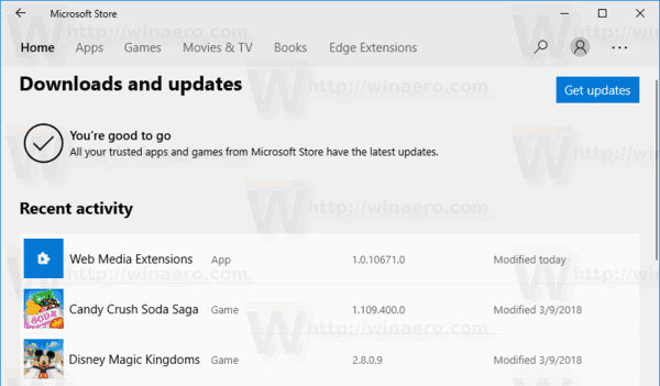 Microsoft Store No Updates Available