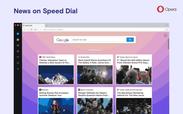 Opera 53 News In Speed Dial