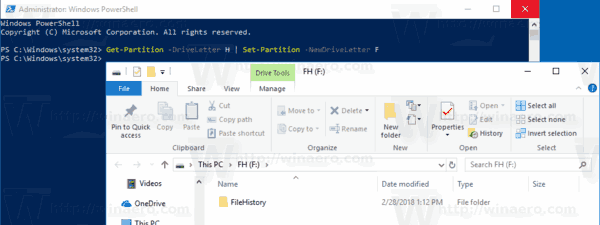 PowerShell Assign Drive Letter