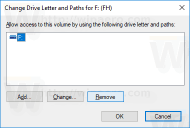 Remove Drive Letter Windows 10