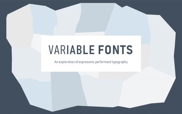 Variable Fonts Logo Banner