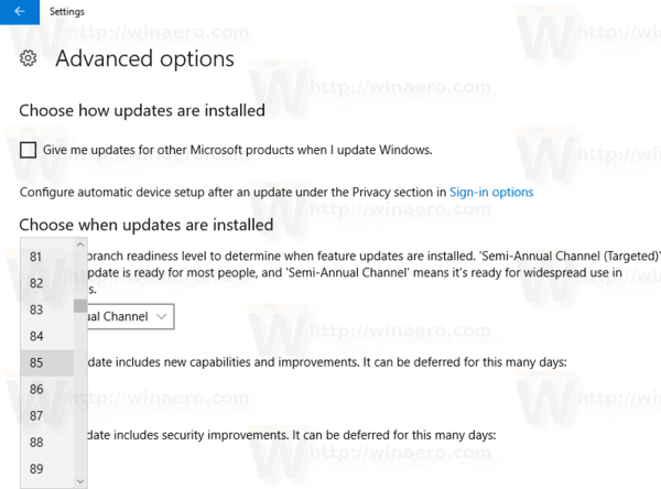 Windows 10 1803 Delay Upgrade Step 3