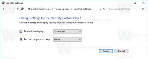 Windows 10 Create Power Plan 3
