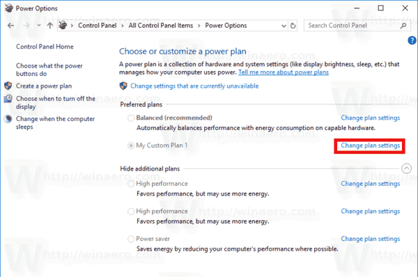 Windows 10 Create Power Plan 4