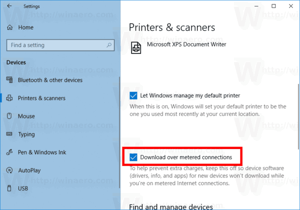 Windows 10 Download Device Software Over Metered Connection