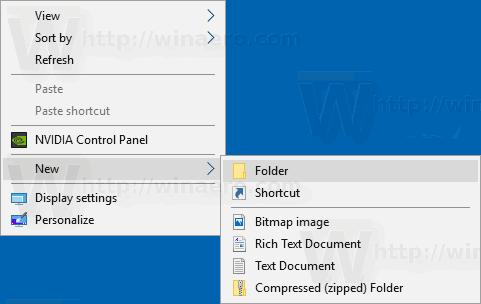 Windows 10 Edited Default New Menu