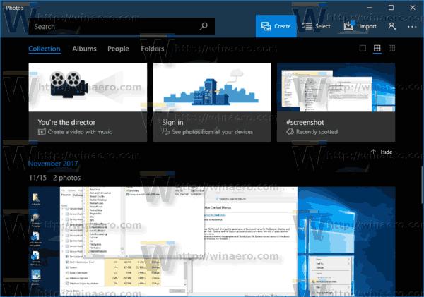 Windows 10 Photos Enable Dark Theme