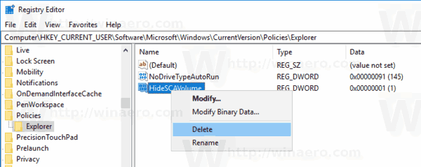 Windows 10 Volume Icon Disabled With Group Policy