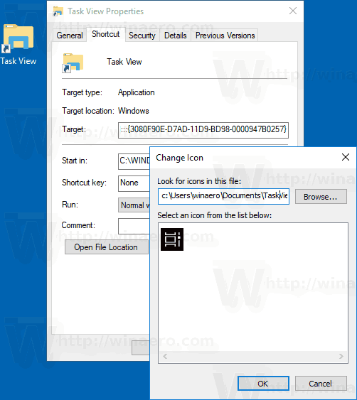 windows 10 how to create shortcut for a file