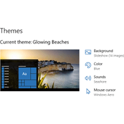 Download Glowing Beaches theme for Windows 10, 8 and 7
