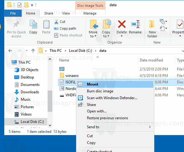 Mount By Default In Windows 10