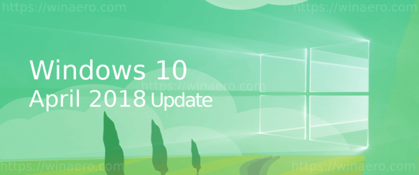 WIndows 10 April 2018 Update Banner