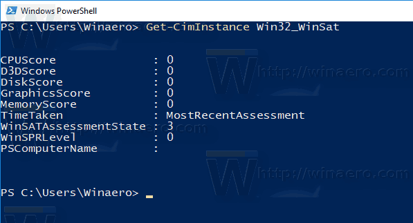 Windows 10 WEI PowerShell Zero