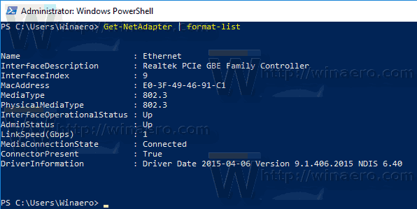 Windows 10 List Network Adapters Powershell