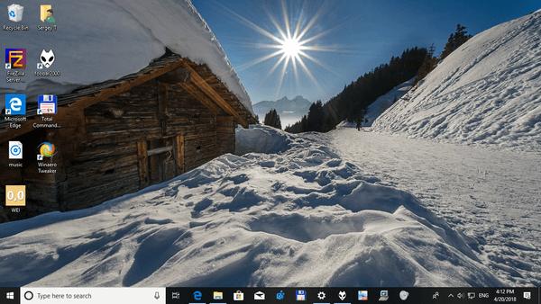 windows 10 winter theme