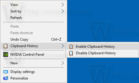 Clipboard History Context Menu Windows 10