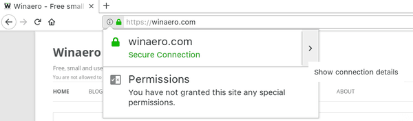 Firefox 60 Show Connection Details Icon